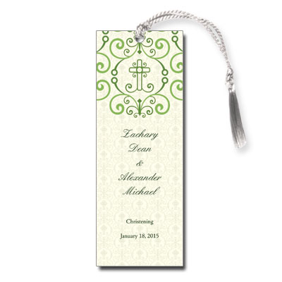 adorned cross bookmark christening keepsake bookmarks