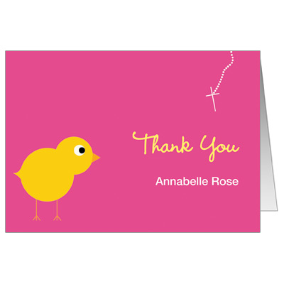 Chick Girl Note Card