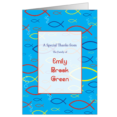Christian Fish Note Card