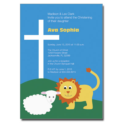 Lion & Lamb Invitation