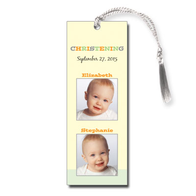 Twice As Nice Bookmark - Christening