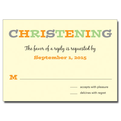 Twice As Nice Response Card - Christening