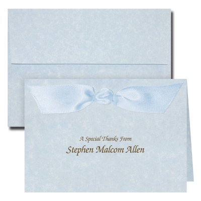 Blue Parchment Note Card