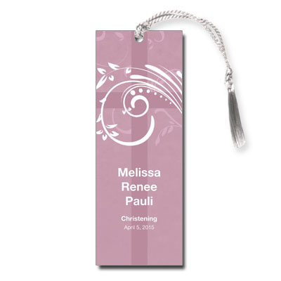 Modern Mauve Swirl Keepsake Bookmark