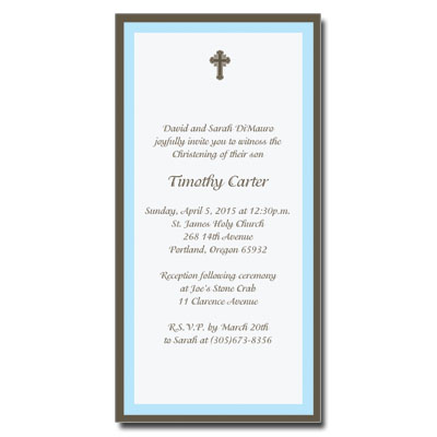 Chocolate & Blue Invitation