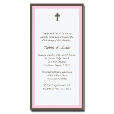 Chocolate & Pink Invitation