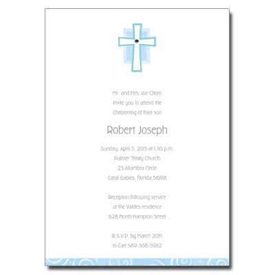 Blue Cross Jewel Invitation