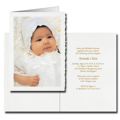 Deckle Edge Photo Invitation - Portrait