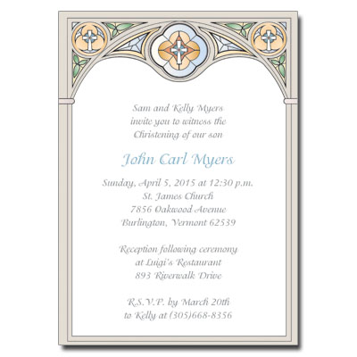 Stained Glass SB Invitation