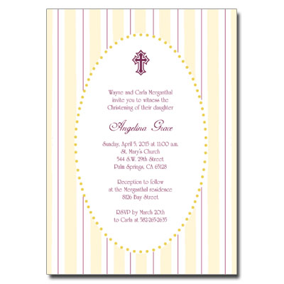 Gold Stripes Invitation