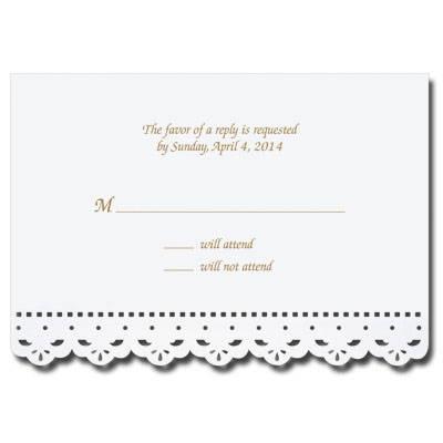 Lace Cut Response Card