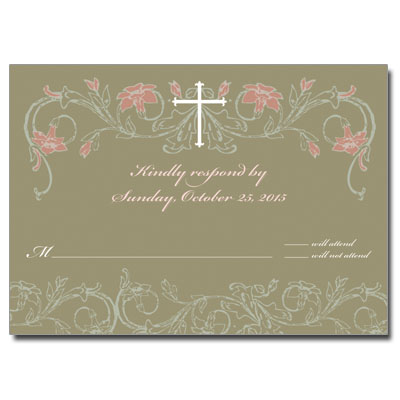 Jeweled Peach Flora Response Card