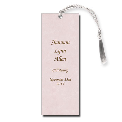 Pink Parchment Bookmark