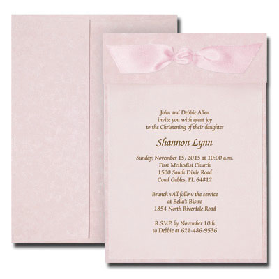 Pink Parchment Invitation with Vellum