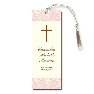 Pink Vines Keepsake Bookmark