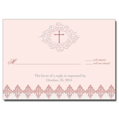 Elegant Rose Response Card