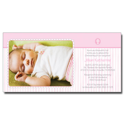 Pink Scalloped Border Invitation