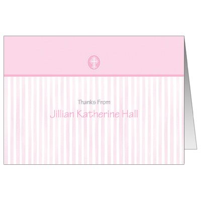 Pink Scalloped Border Note Card