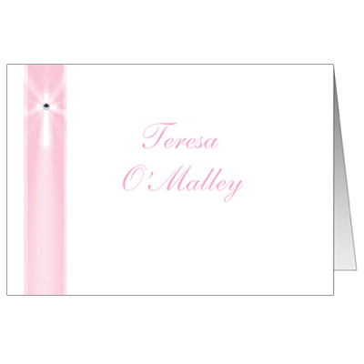 Pink Rays Jeweled Note Card