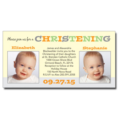 Twice As Nice Invitation - Christening