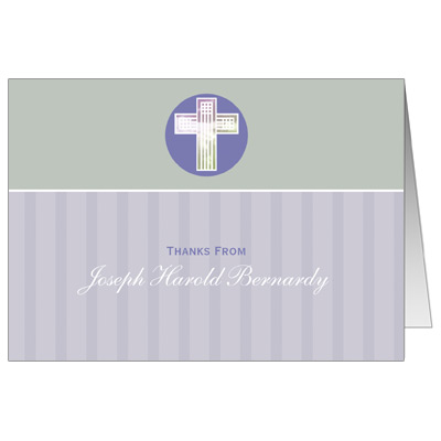 Pastel Squares Thank You Christening Thank You Note Cards