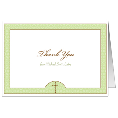 Wintergreen Thank You Note